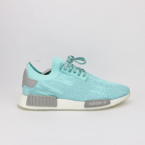 Men s Adidas NMD R1 PrimeKnit Energy Aqua Grey 91251e58c618
